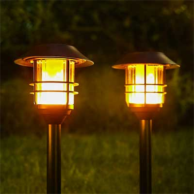 Outdoor Solar Lanterns with 96 Flickering LED Bulbs