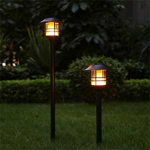 Adjustable Height Solar Torches