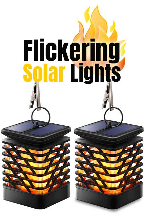2pc LED Flickering Solar Lights with Metal Clips