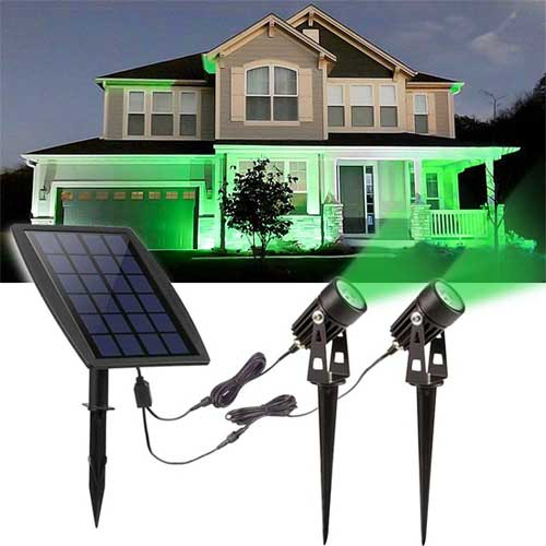 Green Solar Spotlights for Halloween