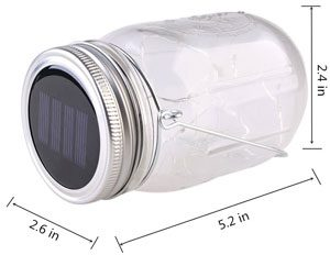 Dimensions of Solar Mason Jar Light Kit