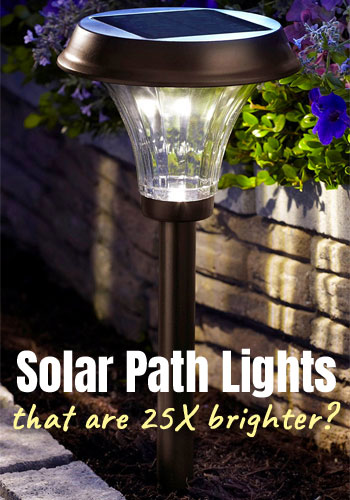 Moonray Richmond Solar Path Lights that Shine 25 Times More Light