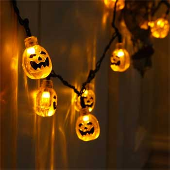 Solar Powered Pumpkin String Lights
