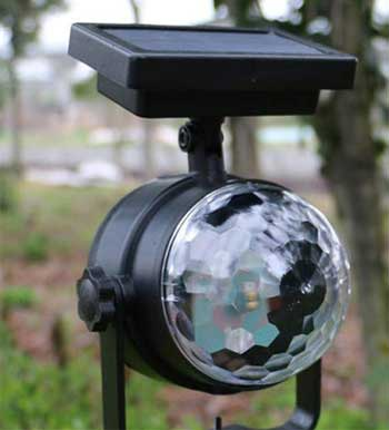 Solar Projector Light that Looks like a Disco Ball