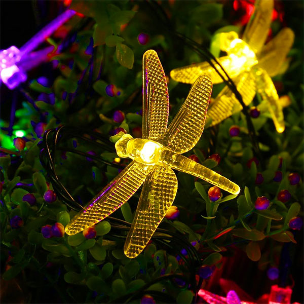 Multi-Color Flashing/Solid Solar Firefly Lights