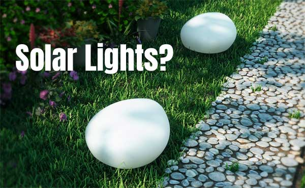 Solar Globe Path Lights that Look Like Giant Pebbles or Stones