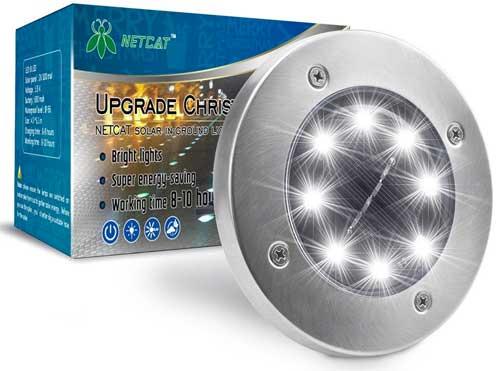 Solar Ground Lights (8-pack) for Illuminating Pathways, Driveways, Landscape