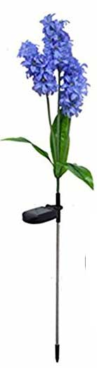 Hyacinth Flower Stake Light with Solar Panel