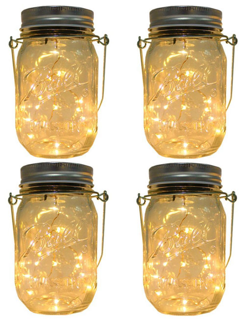 Solar Mason Jar Light Set