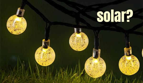 Solar Mini Globe String Lights, Warm White
