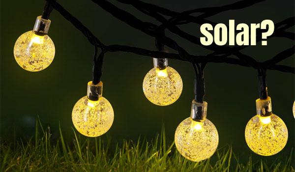 Solar Mini Globe String Lights, Warm White