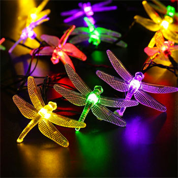 Flashing Solar String Firefly Lights in Multi-Color