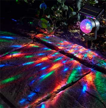 Solar Strobe Light Rotates with 3 Different Color LED Bulbs