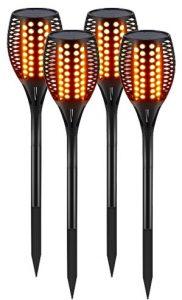 Set of 4 Solar Tiki Torches