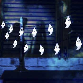 White Ghost Solar String Lights