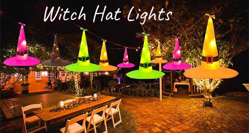 Witch Hat Lights with Remote Control